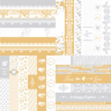 The Wedded Bliss Collection by Katie Pertiet Border Strips-Set 12