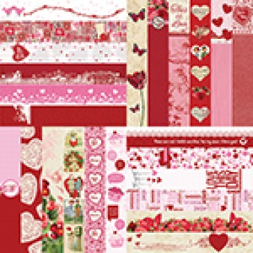 Love Collection Set of 12 - 2 x 12 Border Strips