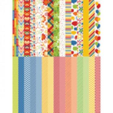 Pocket Primary Border Strips by Katie Pertiet - Set 30