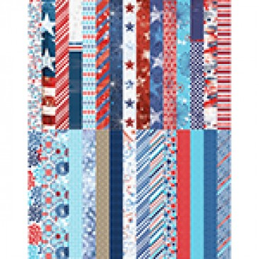 Pocket Red, White, and Beautiful Border Strips by Katie Pertiet - Set 30