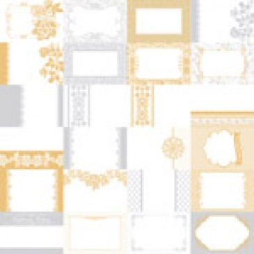 The Wedded Bliss Collection by Katie Pertiet Designer Journal Cards - Set 25