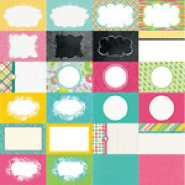 Party Brights by Katie Pertiet Designer Journal Cards - Set 25