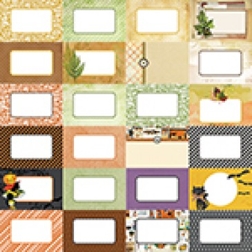 Fall Flourish by Katie Pertiet Designer Journal Cards - Set 25