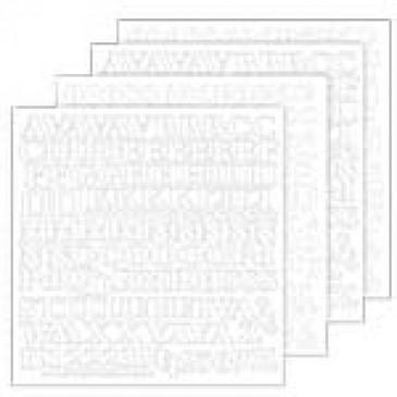 Black Noir White Alphabet Stickers *SALE* WHILE SUPPLIES LAST