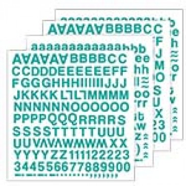 Blue Skies Aqua Alphabet Stickers *SALE* WHILE SUPPLIES LAST