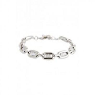 Radiant Silver Tone Bracelet