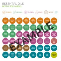 Authentic Essential Oils Bottle Top Labels (two full sets)